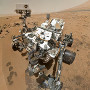 the Curiosity rover on Mars, self-portrait