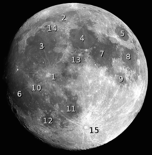 The features of the Moon, quiz 1 image